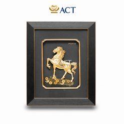 tranh ngựa dát vàng tài lộc