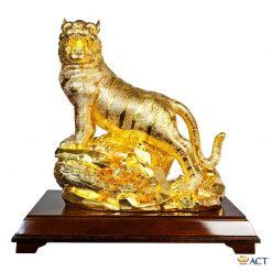 Tượng hổ dát vàng 24k cỡ lớn