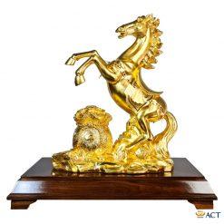 Tượng ngựa tài lộc dát vàng 24k